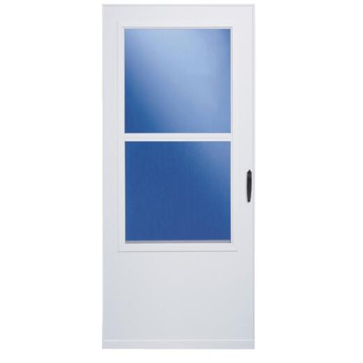 Larson 36 In. W. x 80 In. H. x 1 In. Thick White Self-Storing Vinyl Storm Door