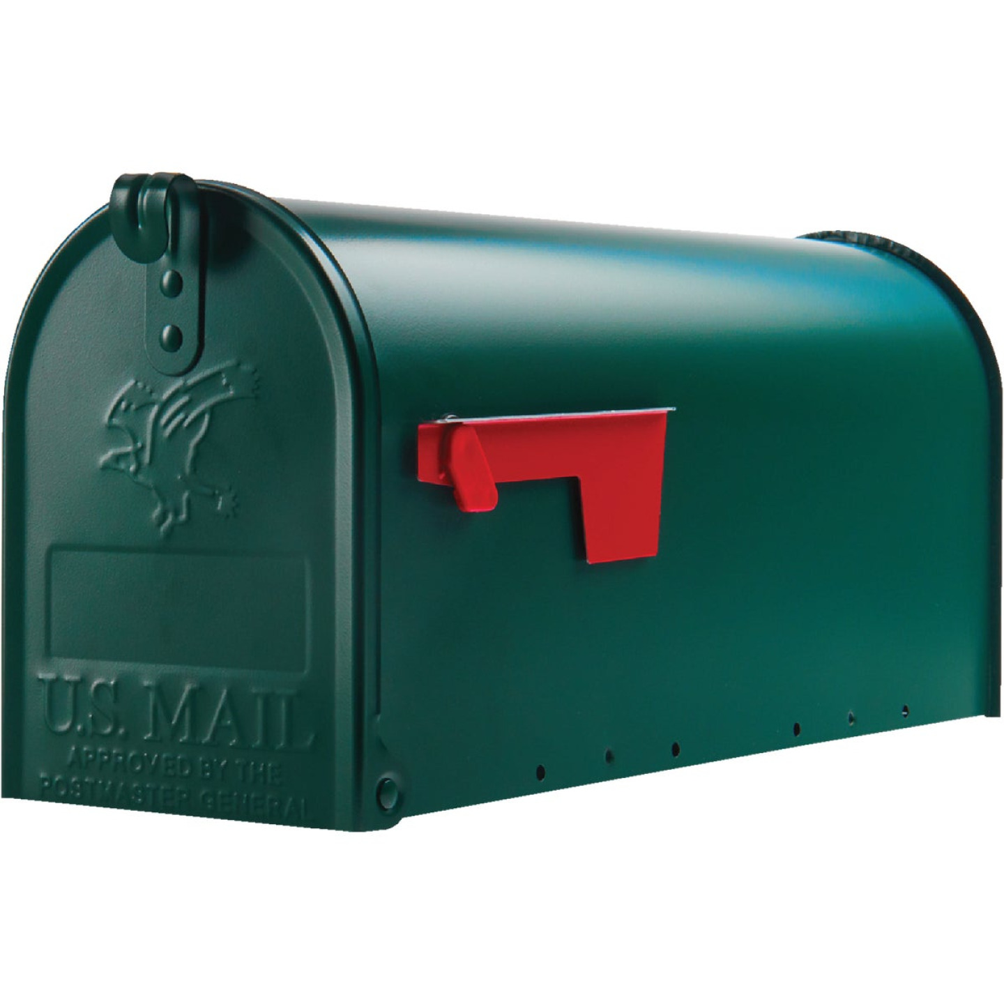 Gibraltar Elite T1 Green Steel Rural Post Mount Mailbox Image 2
