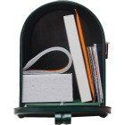 Gibraltar Elite T1 Green Steel Rural Post Mount Mailbox Image 3
