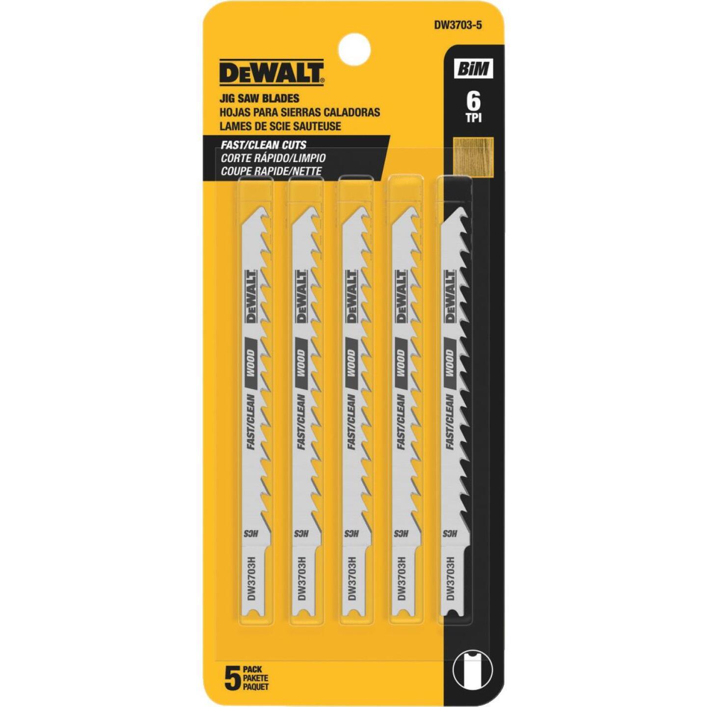 DeWalt 4 In. 6TPI U-Shank Cobalt Jig Saw Blade (5 Count) Image 2