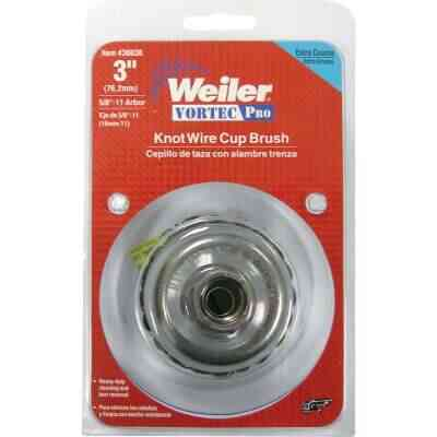 Weiler Vortec 3 In. Knotted 0.02 In. Angle Grinder Wire Brush