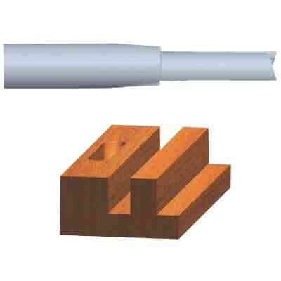 Vermont American Carbide Tip 1/4 In. Straight Bit
