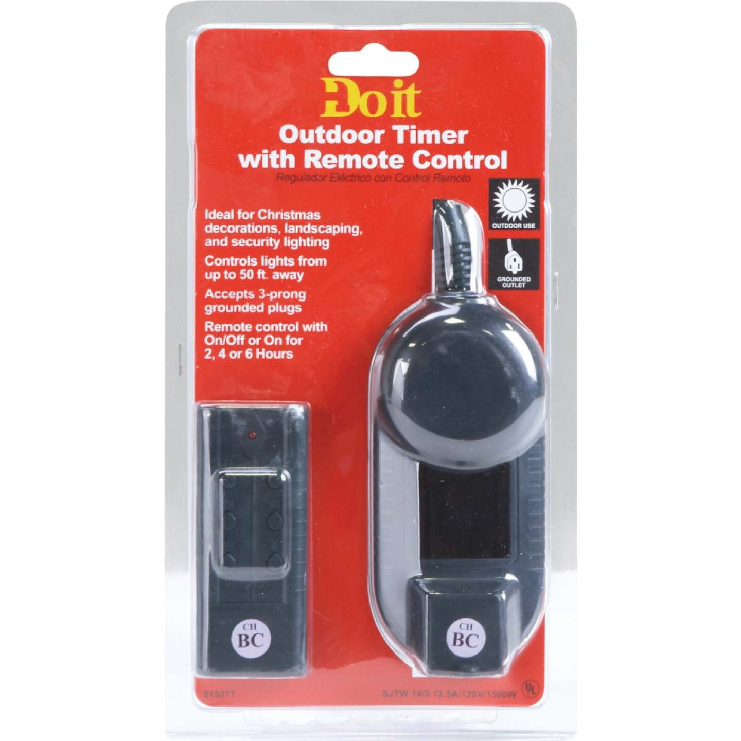 Do it 12.5A 120V 1500W Green Outdoor Timer with Remote Image 2