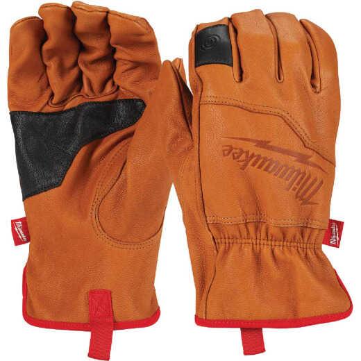 Milwaukee Men's XL Goatskin Leather Work Gloves